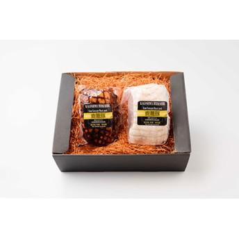 枕崎産黒豚鹿籠豚ボンレスハム&焼豚セット