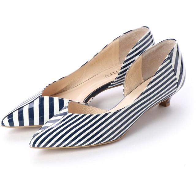 アンタイトル シューズ UNTITLED shoes パンプス (ネイビーエナメルコンビ)