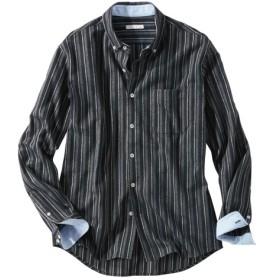 ストライプ柄ボタンダウン長袖シャツ カジュアルシャツ