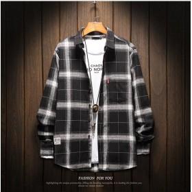 [55555SHOP]秋の防風 ★カジュアルシャツ 夏物 ゆったりおしゃれ メンズ シャツ 韓国ファッション 夏 長袖トップス 人気デザイン メンズ シャツ