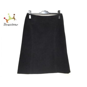 ニジュウサンク 23区 スカート サイズ38 M レディース 美品 黒 ベロア 新着 20190731