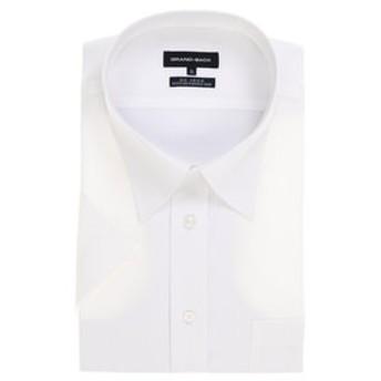 【GRAND-BACK:トップス】【大きいサイズ】形態安定レギュラーフィットレギュラーカラー半袖ビジネスドレスシャツ