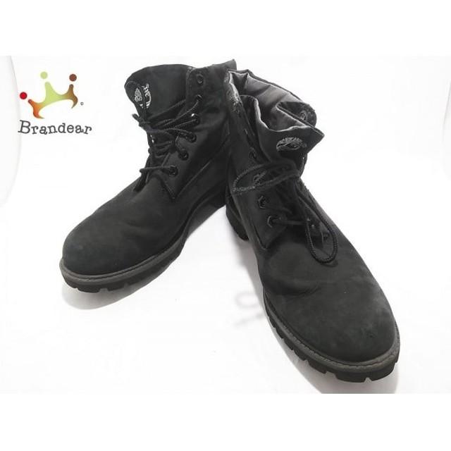 ティンバーランド Timberland ショートブーツ 25.5  メンズ 黒 ヌバック×ナイロン 新着 20190731