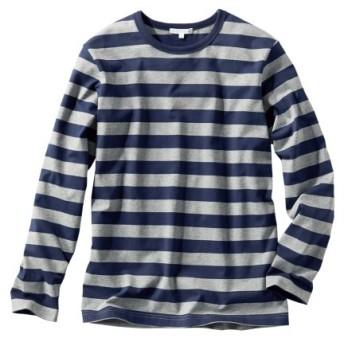 ボーダー長袖Tシャツ(消臭テープ付) Tシャツ・カットソー