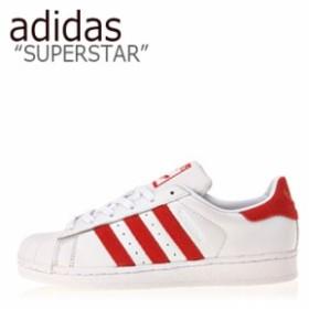 アディダス スーパースター スニーカー adidas メンズ レディース SUPERSTAR スーパースター WHITE RED ホワイト レッド EF9237 シューズ