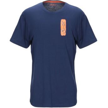 《9/20まで! 限定セール開催中》LIU JO MAN メンズ T シャツ ダークブルー 3XL コットン 100%