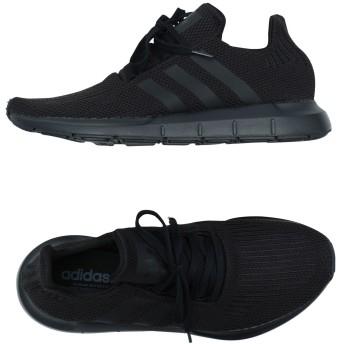 《セール開催中》ADIDAS ORIGINALS メンズ スニーカー&テニスシューズ(ローカット) ブラック 4.5 紡績繊維 Swift Run