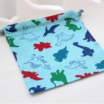 恐竜の給食袋*コップ袋*マルチ巾着使い方いろいろ*