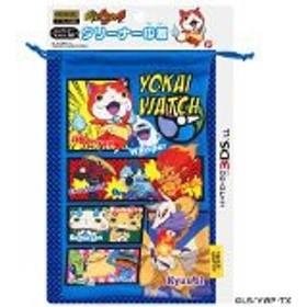 【新品】妖怪ウォッチ NINTENDO 3DS LL対応 クリーナー巾着ブルー 【3DS】【周辺機器】 YWG01-2