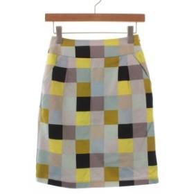 marimekko  / マリメッコ レディース スカート 色:水色x黄xグレー等(総柄) サイズ:32(XS位)