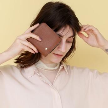 トプカピ TOPKAPI エンボスレザー2つ折り財布 日本製 SPIGA スピーガ (ブラウン)