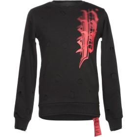 《期間限定 セール開催中》PHILIPP PLEIN メンズ スウェットシャツ ブラック M コットン 65% / ポリエステル 35%