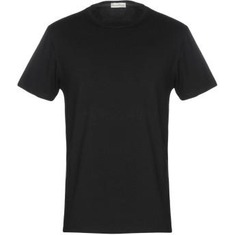 《セール開催中》CASHMERE COMPANY メンズ T シャツ ブラック 52 コットン 100%