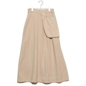 スタイルブロック STYLEBLOCK カツラギポケットスカート (ベージュ)