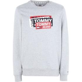 《期間限定 セール開催中》TOMMY JEANS メンズ スウェットシャツ グレー S コットン 100% TJM MULTI CORP LOGO