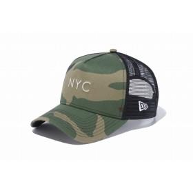NEW ERA ニューエラ 9FORTY A-Frame トラッカー NYC ウッドランドカモ × ホワイト アジャスタブル サイズ調整可能 ベースボールキャップ キャップ 帽子 メンズ レディース 56.8 - 60.6cm 11901216 NEWERA メッシュキャップ