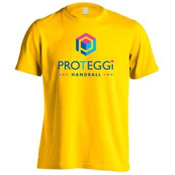 (プロテッジ) PROTEGGi オフィシャルロゴデザイン ヘキサゴン バーティカル 半袖プレミアムドライTシャツ カナリアイエロー L
