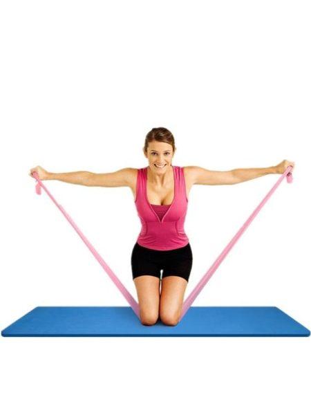瑜伽繩拉力帶運動訓練瑜伽帶健身器材舞蹈初學者鬆緊帶家用彈力帶