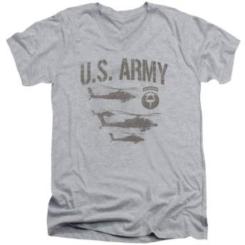 Trevco メンズ 邪悪なTシャツメンズARMY半袖AIRBORNE TシャツTシャツ Sサイズ ヘザー