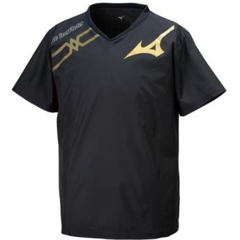 MIZUNO SHOP [ミズノ公式オンラインショップ] ブレーカーシャツ[ユニセックス] 97 ブラック×ゴールド V2ME9501