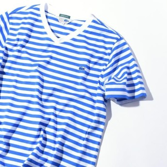 [マルイ] LACOSTE×SHIPS JET BLUE: 別注 ベーシックVネックTシャツ/シップス ジェットブルー(SHIPS JET BLUE)