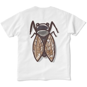 蝉!バックプリントTシャツ