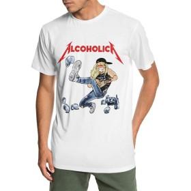 Tシャツ メンズ ショートスリーブ メタリカ アルコホリカ ALCOHOLICA 夏服 スポーツ クルーネック T-shirt ベースボールウェア カジュアル ゆったり 無地 薄手 個性t ップス ファッション カジュアル