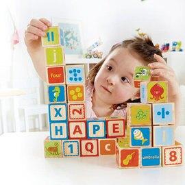 德國【Hape愛傑卡】ABC+123多功能積木(26塊)