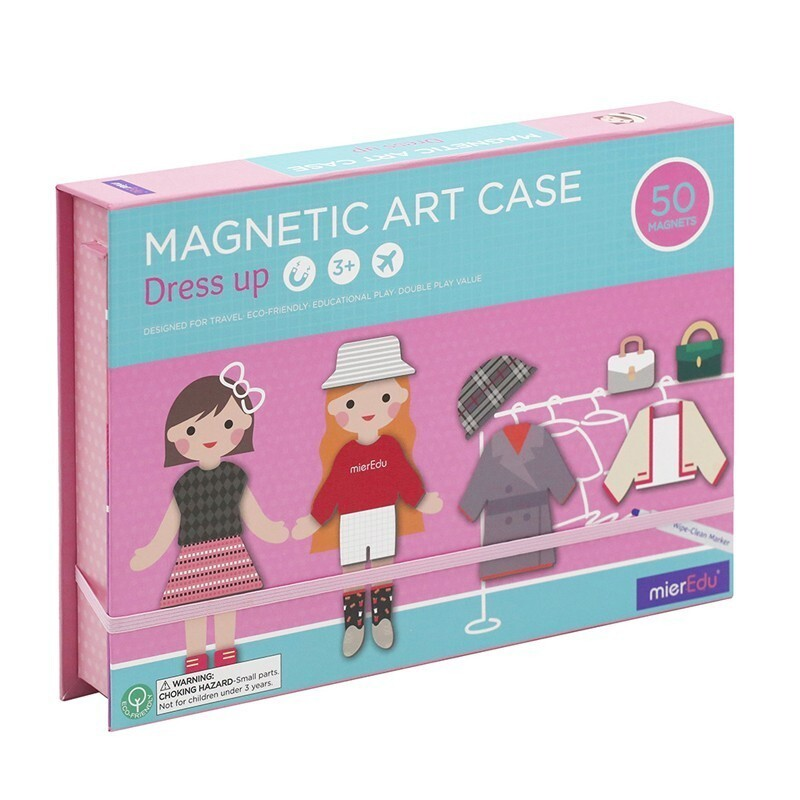mieredu磁性創意塗鴉拼圖盒女孩變裝