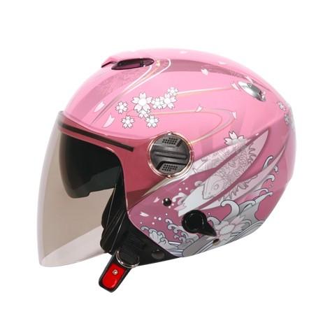 ZEUS 瑞獅 ZS-202FB 202FB T41 3/4罩 半罩 安全帽 - 粉紅/粉紅