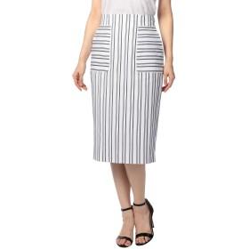 (ノーリーズ) NOLLEY'S コードストライプレースアップスカート 8-0035-1-06-014 38 ホワイト系4