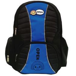 OPEN! 多功能護脊休閒護脊書背包(藍色)OP6224