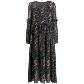 Semicouture フローラル ロングドレス - ブラック