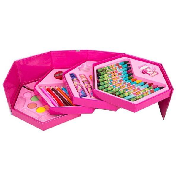 兒童繪畫畫畫工具水彩筆蠟筆禮盒套裝學生彩色筆塗鴉無毒美術工具 ATF伊衫風尚