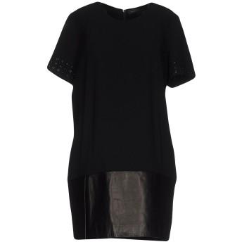《セール開催中》BARBARA BUI レディース ミニワンピース&ドレス ブラック 42 ポリエステル 100% / 羊革(ラムスキン)