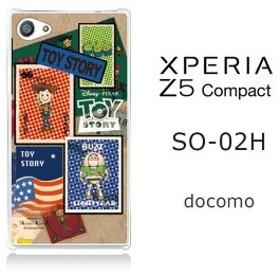 50%OFF SALE セール Xperia Z5 compact SO-02H 【Disney/ディズニー】「TOYSTORY/トイストーリー(stamp)」 バズ/ウッディ/エイリアン