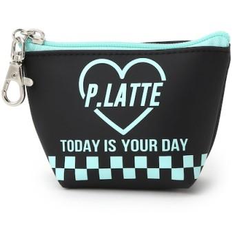 【ピンクラテ/PINK-Latte】 PVCフック付きハートロゴミニポーチ