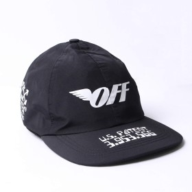[OFF-WHITE(オフホワイト)] ナイロンキャップ ロゴ 帽子 GORE-TEX使用 ベースボールキャップ OMLB015 F18 656037 1001/BLACK-WHITE メンズ [並行輸入品]