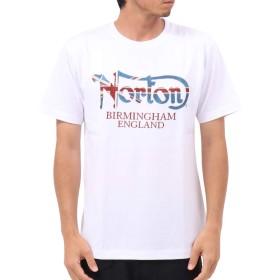 [ノートン] Norton Tシャツ ユニオンジャック ラメ 刺繍 Tee 192N1021 ホワイト XXL