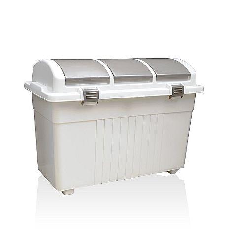 【this-this】 日本 eco container style 三分類 環保多功能收納垃圾桶 - 100L