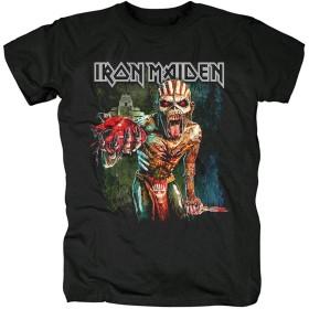 RONGHUA Iron Maiden アイアンメイデン クラシック・ロック・バンド 記念 メンズ/レディース Tシャツ/夏服 スポーツ Tシャツ ブラック/半袖 Tシャ