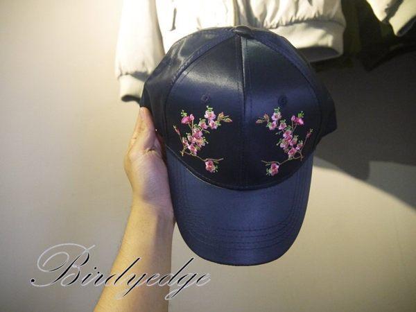 綢緞 皮 老帽 花 梅花老帽 帽子 鴨舌 棒球帽 復古 亮面 綢緞 帽子 日本