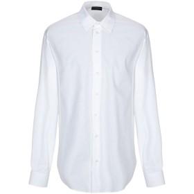 《期間限定セール開催中!》EMPORIO ARMANI メンズ シャツ ホワイト 45 コットン 100%