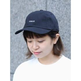 [コーエン] 帽子 チビ ロゴ 刺繍 ベース ボール キャップ メンズ ブラック Free 75856008034 0900