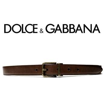 221 DOLCE&GABBANA ドルチェ&ガッバーナ ブラウン レザー ベルト (85/34) [並行輸入品]