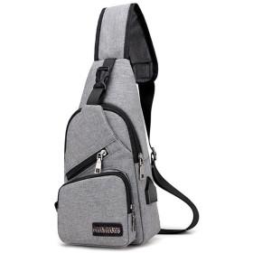 Alhyla ショルダーバッグ ボディバッグ メンズ 防水 ナイロン ワンマイルバッグ ワンショルダー 軽量 斜めがけ カジュアル かばん 鞄 メンズ ギフト 通勤 通学 プレゼント 誕生日ダークグレー