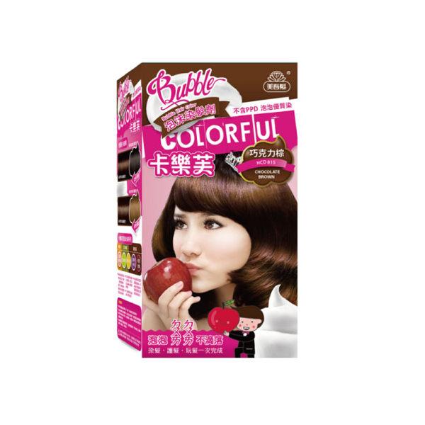 美吾髮卡樂芙泡沫染髮劑50g+50g巧克力棕【寶雅】泡沫 染髮 卡樂芙 美吾髮