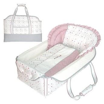 フジキ バッグdeクーファン ベビーポルカ ピンク 日本製 クーファン クーハン ベビーキャリー バスケット かご 赤ちゃん 持ち運び