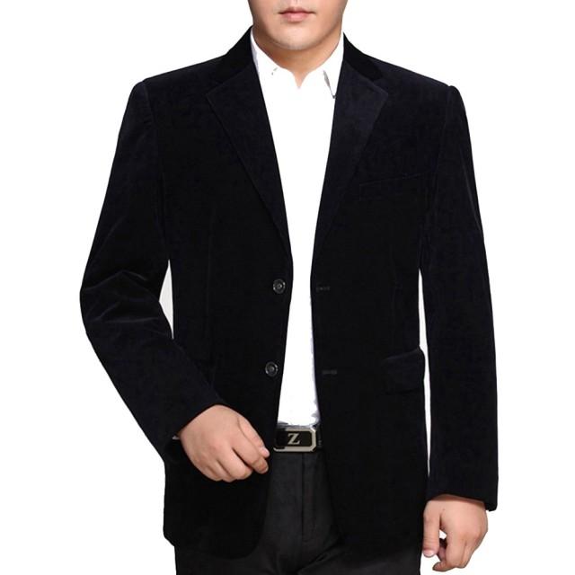 (ネルロッソ) NERLosso テーラードジャケット メンズ コーデュロイ ブレザー テイラード ジャケット ビジネス フォーマル カジュアル 長袖 正規品 170サイズ ダークブルー cmn24163-170-dbu
