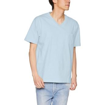 [ウィゴー] WEGO USA コットン V ネック ポケット T シャツ 半袖 M サックス メンズ